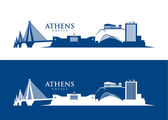 Athens skyline — Stock Vector