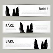 Baku banner — Stock Vector