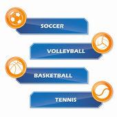 Set of sport stickers — Stock Vector