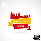 Barcelona skyline — Stock Vector
