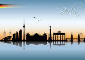Skyline van berlijn — Stockvector