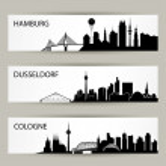 City skyline banners — Stock Vector