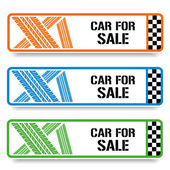 Car tire banners — Vettoriale Stock