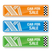 Car tire banners — Vector de stock