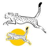 Cheetah — Stock Vector
