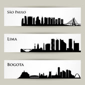 City skyline banners — Stockvektor