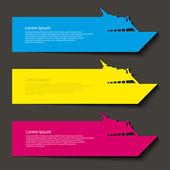 Cruise ship banners — Stockvektor