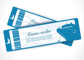 Cruise ship banners — Stock Vector