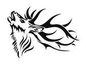 Deer symbol — Stock Vector