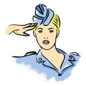 Stewardess — Vecteur