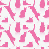 Seamless cat pattern — Vector de stock