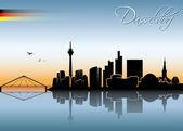 Dusseldorf skyline — Stock Vector