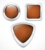 Wooden buttons — Stock Vector