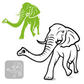 Elephant — Stockvektor