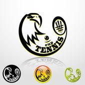 Tennis eagle — Vector de stock
