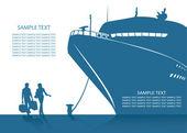 Cruise ship background — Stock Vector