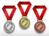 Ensemble de médailles de basket-ball — Vecteur