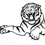 Tiger attack — Stock Vector #46231181