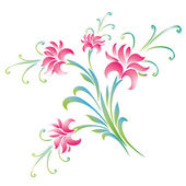 Colorful flowers background — Vector de stock