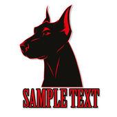 Dog doberman — Stock Vector