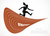 Steeplechase runner — Stock Vector
