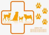 Dog veterinary — Stock Vector