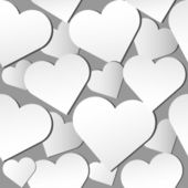 Paper hearts pattern — Vector de stock