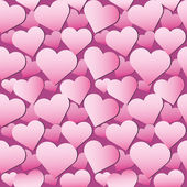 Seamless pink hearts pattern — 图库矢量图片