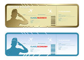 Airlines tickets — Stock Vector
