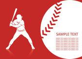 Beyzbol arka plan — Stok Vektör