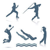 Set of sport disciplines — Stock Vector