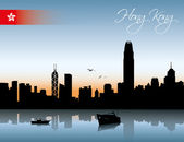 Hong Kong skyline — Stock Vector