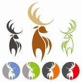 Deer icon — Stock Vector