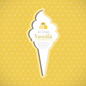 Vanilla ice cream card — Stock Vector