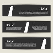 Italy banners — Wektor stockowy