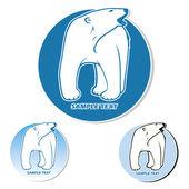 Polar bear label — Stock Vector