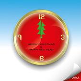 Christmas clock — Stockvektor