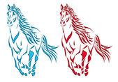 Horse silhouette — Stock Vector