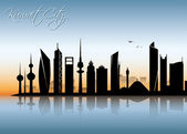 Kuwait city skyline — Stockvektor