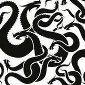 Tattooed dragon — Stock Vector