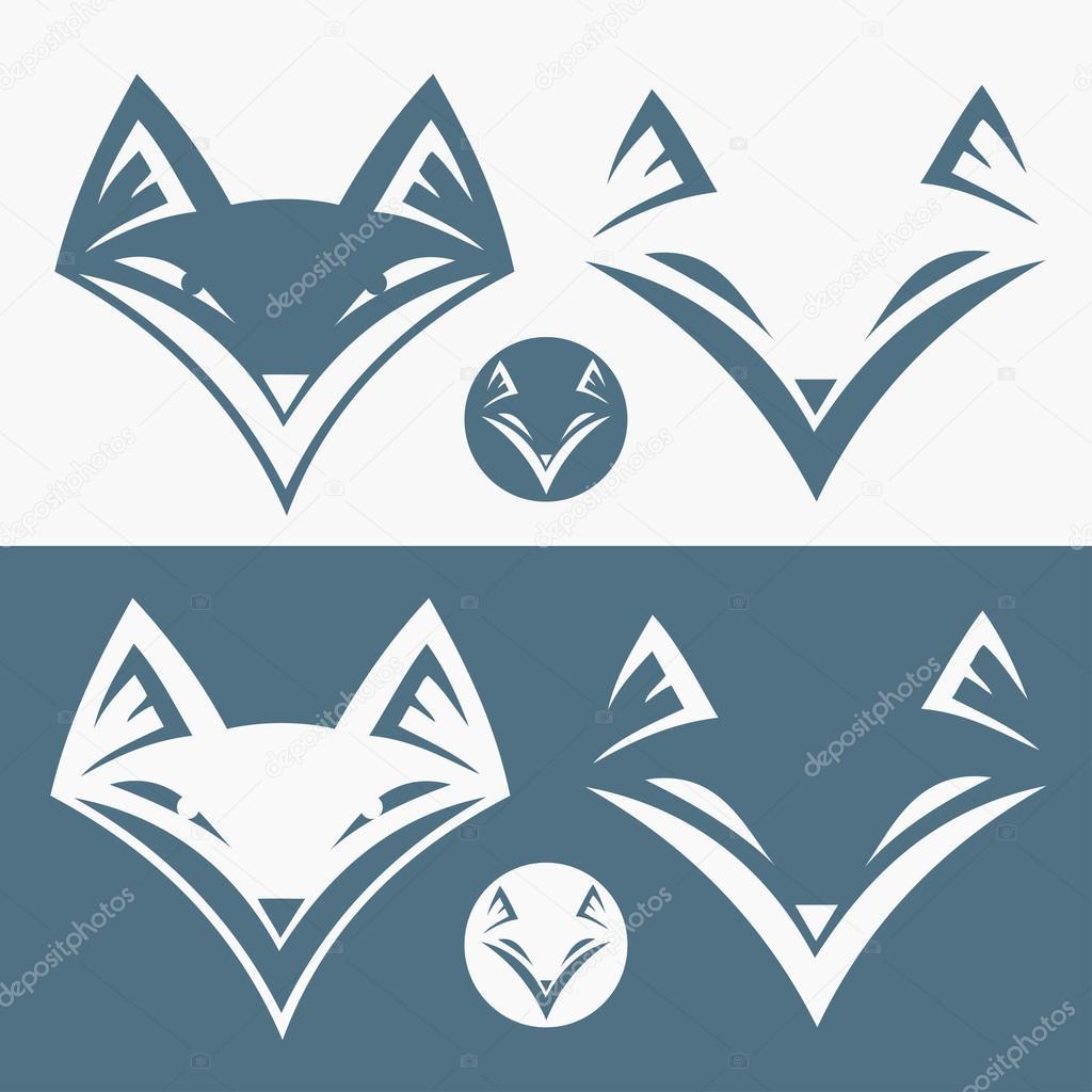 Fox head sign illustration  Fox Head Illustration