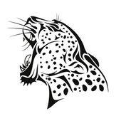 Puma kopf — Stockvektor