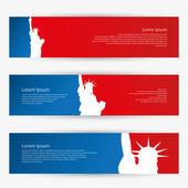 New York banners — Stock Vector