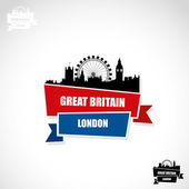 London ribbon banner — Vector de stock