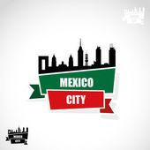 Skyline van de stad van mexico — Stockvector