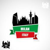 Milan skyline — Stock Vector