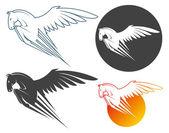Pegasus symbol — Stock Vector