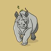Cartoon Rhino — Stockvektor