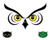Izole baykuş — Stok Vektör