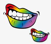 Gay pride smile — Stock Vector